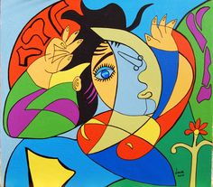 Picasso like- woman by Lucia Soldà (Italy)