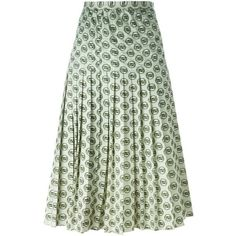 Christian Dior Vintage Bamboo Print Pleated Skirt ($492) ❤ liked on Polyvore featuring skirts, white, vintage skirts, high waisted pleated skirt, high-waisted skirts, white skirt and high rise skirts