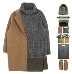 """""""#688"""" by giulls1 ❤ liked on Polyvore featuring Topshop, Bonpoint, Dessau Home, Royce Leather, Remington, Sabira, Sweater, grey, turtleneck and camelcoat"""