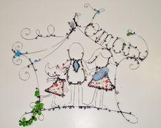 Arte em Arame - Árvore    Bom Gosto e Sensibilidade!    Criação personalizada - consulte!      Tamanho aproximado: 30 x 23 cm    ** Frete por conta da cliente
