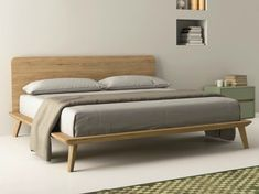 Oak Double Bed, Double Beds, Bedroom Furniture, Furniture Design, Bedroom Decor, Bedding Decor, Bedding Sets, Contemporary Bedroom, Modern Bedroom