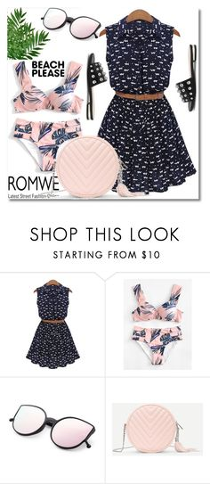 """""""Beach Please: Vacay Outfit"""" by ilona-828 ❤ liked on Polyvore featuring romwe, polyvoreeditorial, BeachPlease and vacayoutfit"""