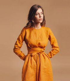 Linen dresses for women. Summer dress - Macy - Practical information and pictures Clothes For Summer, Dress For Summer, Summer Dresses, Style Casual, My Style, Mini Vestidos, Linen Tunic, Linen Dresses, Maxi Dresses