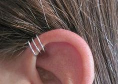 No Piercing Triple Loops Ear Cuff for Upper by Arianrhod Wolfchild on etsy