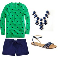 JCrew Blue and Green: could also be done with the same, cheaper Old Navy sweater!