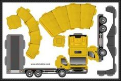 Glue-less Truck Free Paper Model Download - WOW! Little Man is going to lose his mind!