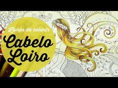 Cabelo Loiro - Livros de Colorir - Blonde Hair - Coloring Books - YouTube