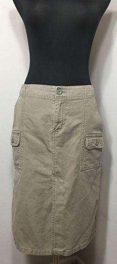 Old Navy 8 Skirt Khaki Vented | eBay