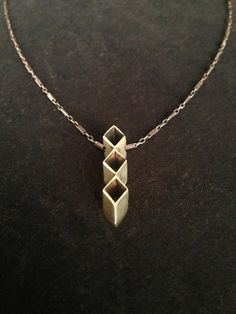 Triple Diamond Necklace by ginamount on Etsy, $85.00