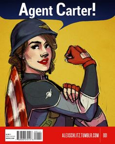 Agent Carter as Rosie the Riveter Peggy Carter, Agent Carter, Marvel Fan Art, Marvel Dc, Marvel Heroes, Captain Marvel, Marvel Characters, Marvel Movies, Johnlock