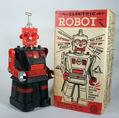 20 Cool and Crazy Vintage Robot Toys Vintage Robots, Retro Robot, Vintage Toys, Toy Packaging, Modern Toys, Hobbies To Try, Space Toys, Mid Century Art, Robot Art