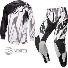 2015 Alpinestars Techstar Vented Kit Combo - Black White Grey