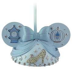 Image detail for -New Disney Parks Cinderella Mickey Ear Hat Christmas Ornament Holiday ...