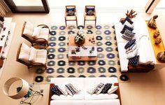 40 tapetes para sala que vão transformar o seu ambiente