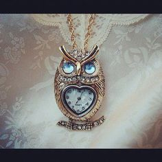 love this owl watch necklace