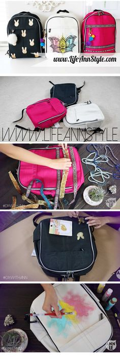 DIY How to Make Backpack designs!! | lifestyle BACK TO SCHOOL #backtoschool
