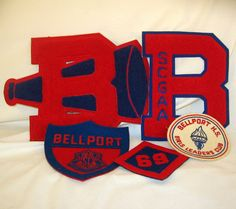 Vintage Varsity Letters and HS Patches Lot BELLPORT NY 1969 by wolfmansmummy, $54.00