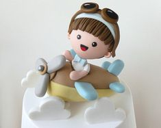 Fondant Cake Toppers, Custom Cake Toppers, Baby Boy Cakes, Girl Cakes, Watercolor Cake Tutorial, Barn Cake, Planes Cake, Cow Cakes, Travel Cake