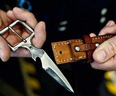 Hidden Belt Buckle Knife