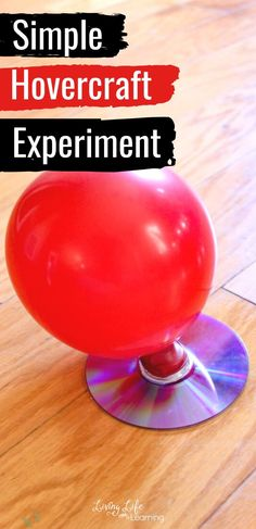 You need to try this with your kids, it will be a hit. My kiddos are always asking for hands-on science activities, even if it's one we have done over and over like this Hovercraft Science experiment project. #scienceproject #homeschoolscience