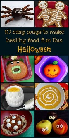 Ten fun and easy healthy food ideas for Halloween - kids will love these fun ideas for a healthy Halloween - from Eats Amazing UK