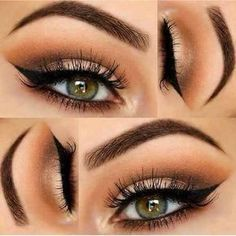 Cute eye makeup!! Lush lashes. The Best Step By Step Tutorial and Ideas For Green Eyes For Fall, Winter, Spring, and Summer. Everything From Natural To Smokey To Everyday Looks, These Pins Have Dramatic Daytime, Formal, Prom, Wedding, and Over 40 Looks You Can Do That Are Simple, Quick And Easy. How To Do These Are Included.