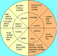One version of the flavor wheel - helpful in picking out what you taste in a cigar!