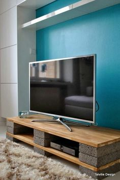 This is just for you who has a DIY TV Stand ideas in the house. #TvStand #DIY Inspire: tv stand ideas for small living room, awesome tv stand ideas, tv stand ideas creative, tv stand ideas for bedroom, antique tv stand ideas