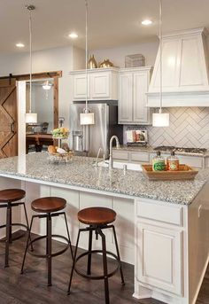 All Of Our Floor Plans Offer Gorgeous Kitchen Options Such As This Island  With Bar Seating