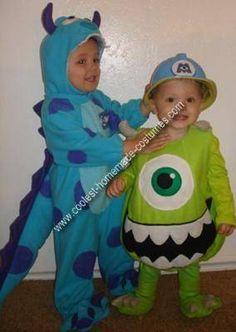 Homemade Monster's Inc Couple Costume