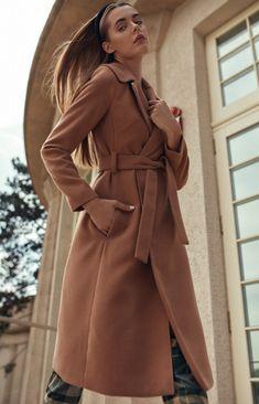 Wiązany płaszcz Nife cpl02 Coat, Jackets, Fashion, Down Jackets, Moda, Fashion Styles, Jacket, Fashion Illustrations, Suit Jackets