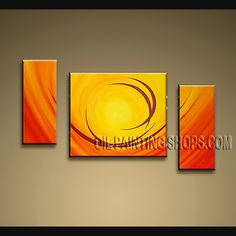 Colorful Modern Abstract Painting Oil Painting On Canvas For Bed Room Abstract. This 3 panels canvas wall art is hand painted by Bo Yi Art Studio, instock - $153. To see more, visit OilPaintingShops.com