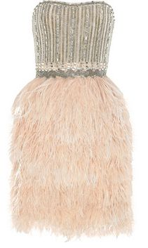 Love this Marchesa short feather dress from Stark Style, an upscale consignment boutique.