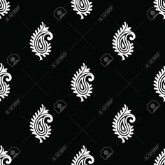 Ikat Pattern, Paisley Pattern, Pattern Art, Indian Patterns, Geometric Patterns, Bell Design, Leaf Drawing, Handmade Stamps, Folk Embroidery