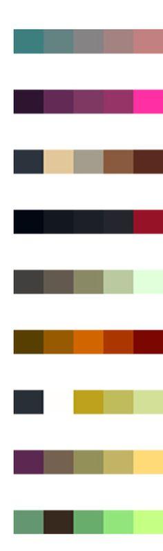 Missoni color pallettes