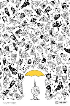 Great ads for Blunt Umbrellas | Donut ad | Agency: Y&R, Auckland, New Zealand | Illustrator: MIchael Hsiung | Designer: James Wendelborn | Via: http://adsoftheworld.com/media/print/blunt_umbrellas_donut?size=original | Click to visit Blunt and purchase an umbrella #illustration #advertising #spon #graphicdesign