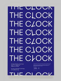 Christian Marclay, The Clock | Poster design by Boris Meister
