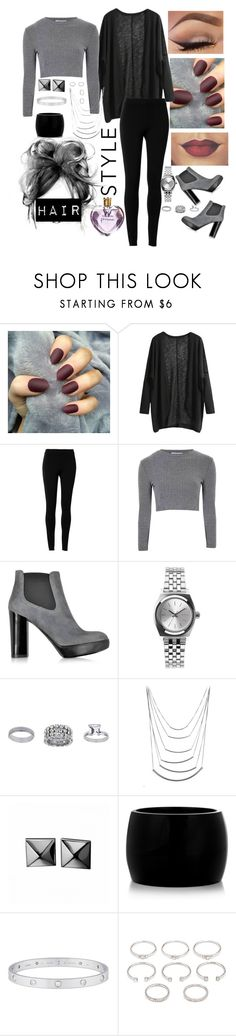 """""""Untitled #72"""" by glamorouskitty ❤ liked on Polyvore featuring Max Studio, Glamorous, Hogan, Nixon, Topshop, Waterford, Alexander McQueen, Cartier, Forever 21 and Vera Wang"""