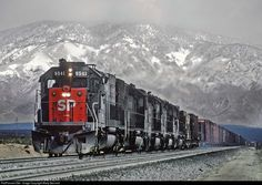 RailPictures.Net Photo: SP 8541 Southern Pacific Railroad EMD SD40T-2 at Mojave, California by Marty Bernard