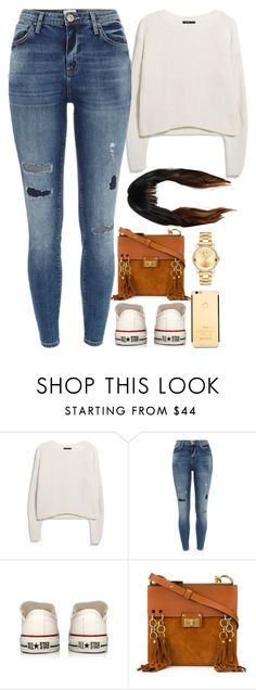 """18 December, 2016"" by jamilah-rochon ❤ liked on Polyvore featuring MANGO, River Island, Converse, Chloé and Movado"