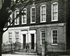 London, Ebury St., where the Mozart family stayed during the Grand Tour