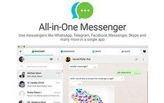 All-in-One Messenger: para tener Whatsapp, Telegram y mas en una sola aplicacion #Software #Mensajeros #messenger