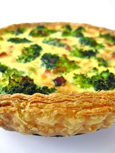 puff pastry broccoli  bacon quiche  This was great even for dinner.  I used store bought puff pastry crust.