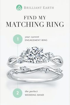 Choose your engagement ring, then use our Matching Wedding Ring tool to create a wedding ring set and discover which wedding ring pairs best with your engagement ring. I like it because it looks like leaves Matching Wedding Rings, Matching Rings, Wedding Matches, Perfect Wedding, Wedding Engagement, Wedding Bands, Engagement Rings, Wedding Men, Dream Wedding