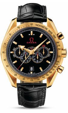 Omega Speedmaster Olympic Collection Timeless Yellow Gold Black Dial Watch 321.53.44.52.01.002