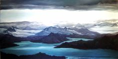 Fiona Hart - Gallery Landscape Paintings, Mount Everest, Sky, Mountains, Gallery, Nature, Travel, Heaven, Viajes
