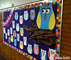 new year church bulletin board | Owl Bulletin Board and Scallop Bunting Tutorial