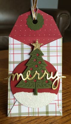 The Gift Card Envelope & Trims Thinlits - SU - Peaceful Pines - Christmas