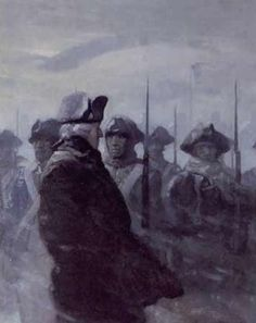 These are the times that try men's souls~ Thomas Paine: Winter in Valley Forge, as General Washington inspects the ever-dwindling troops. American Revolutionary War, American Civil War, American History, Nc Wyeth, I Love America, Colonial America, Civil War Photos, Historical Art, Vintage Artwork