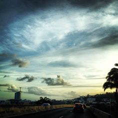 Off to...   #sky #drive #clouds